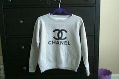 DIY chanel sweatshirt