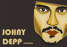 My digital illustration of Johny Depp.