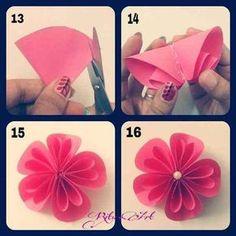 Différentes fleurs en origami 1