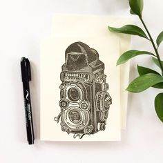 Camera Cards, Printing Ink, Japanese Calligraphy, Vintage Cameras, Blank Cards, Hand Carved, Unique Jewelry, Handmade Gifts, Carving