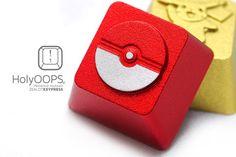 HolyOOPS Pokeball Aluminum Keycap