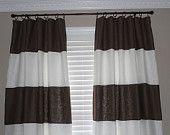 Custom Horizontal Striped Curtain Panels (fabric paint my sheers!)