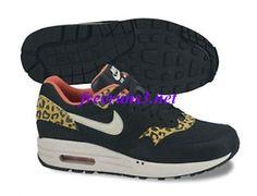 the latest 3e739 033de M17028 Womens Nike Air Max 1 Leopard Pack Black Sandtrap Dark Gold Leaf  Sunburst Shoes Nike