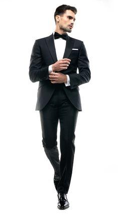 Costum pe comanda Filip Cezar White Dots Black Tie, Mens Suits, Marriage, Costumes, Formal, Weddings, Style, Fashion, Dress Suits For Men