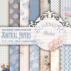 Hey, I found this really awesome Etsy listing at https://www.etsy.com/listing/271003763/nautical-digital-paper-pack-hello-summer