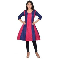 Shop Blue & Pink Anarkali Kurti by Fletchur Inc online. Largest collection of Latest Kurtis and Tunics online. ✻ 100% Genuine Products ✻ Easy Returns ✻ Timely Delivery