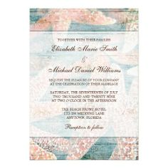 e5e526cd03b    gt Discount Rustic Starfish Teal Blue Wedding Invitations Rustic  Starfish Teal Blue Wedding