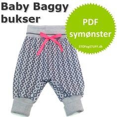 Symønstre til baby. Baggy Bukser i PDF symønster. Køb nu
