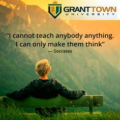 Thinking: the talking of the soul with itself. #GrantTownUniveristy #education #collegedegree
