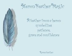 Heron feather magic- Pinned by The Mystic's Emporium on Etsy