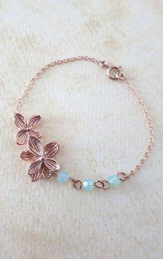 Rose Gold Flower Bracelet delicate rose gold