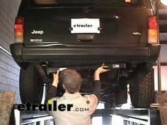 Curt trailer hitch receiver custom fit class iii 2 cars trailer hitch installation jeep cherokee etrailer youtube freerunsca Images