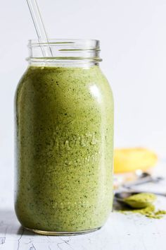 Banana Matcha Green Tea Smoothie