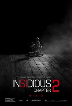 Insidious Chapter 2 - Official Clip - Check out the latest James Wan Insidious Chapter 2 movie clip that picks up right after the Insidious cliffhanger ending. Insidious Chapter 2 hits theaters this upcoming September 13, 2013 and you had better be stoked. The sequel stars Patrick Wilson, Rose Byrne, Lin Shaye, Ty Simpkins, and Barbara Hershey.