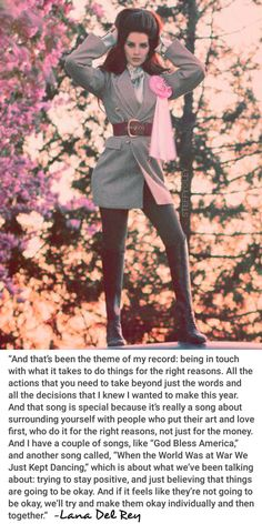 Lana Del Rey for V Magazine #LDR #quotes