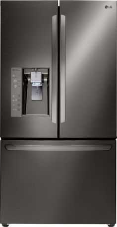 Diamond Collection 24.0 Cu. Ft. Black Stainless Steel French Door Refrigerator - Energy Star