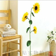 Amazon.com: Sunflower Wall Sticker Decals LX978: Home Improvement