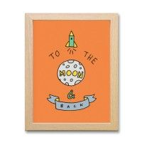 FRAMED PRINT – To The Moon And Back (ORANGE)
