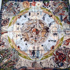 Authentic Hermes Silk Scarf Mythologies des Hommes by CarredeParis