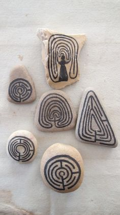 stones with a labyrinth