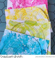 Stamp Card, Rainbow Card, Time In The World, Over The Rainbow, Tim Holtz, Diy Cards, Rainbows, Card Ideas, Card Stock