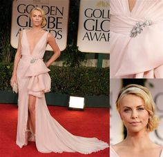 Charlize Theron Golden Globes Dior Dress-Gorgeous!