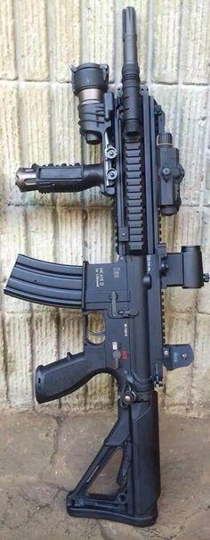 Guns, badgers, and other things. Military Weapons, Weapons Guns, Airsoft Guns, Guns And Ammo, Ak47, Rifles, Heckler & Koch, Custom Guns, Custom Ar15