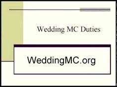 Wedding MC Duties | MC At A Wedding