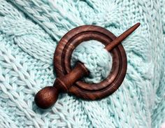 Wooden Shawl Pin or Hair Stick by McCutchwoodworks on Etsy