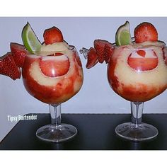 Strawberry Passion Daiquiri Cocktail - For more delicious recipes and drinks, visit us here: www.tipsybartender.com