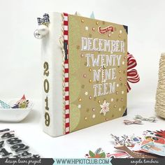 Mini Albums, Diy Mini Album, Mini Photo Albums, November Colors, Hip Kit Club, Cute Candy, Alphabet Design, Color Kit, Snowflake Pattern