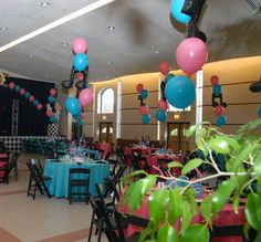 50s themed party colors