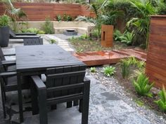Patio Hardscape Ideas Small Yard Design, Pictures, Remodel, Decor and Ideas - page 8 Retaining Wall Design, Fence Design, Patio Design, Retaining Walls, Exterior Design, Small Yard Landscaping, Modern Landscaping, Landscaping Ideas, Contemporary Landscape
