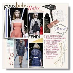 """""""Fendi Spring 2016 Hairs - Faux Bobs"""" by watereverysunday ❤ liked on Polyvore featuring Fendi, Oribe, Grace Lee Designs, Mason Pearson, Goody and GHD"""