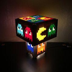 Pacman-LEGO-LED-Lampe von PugsAndBricks auf Etsy