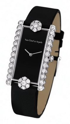 Diamond Watches Collection : Van Cleef & Arpels black, diamond watch - Watches Topia - Watches: Best Lists, Trends & the Latest Styles Ring Armband, Jewelry Accessories, Fashion Accessories, Fashion Jewellery, Van Cleef Arpels, Van Cleef And Arpels Jewelry, Beautiful Watches, Schmuck Design, Luxury Watches