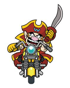 #Wario as #CaptainWario on Game & Wario for the Nintendo #Wii More art from that game @ http://www.superluigibros.com/game-and-wario-artwork