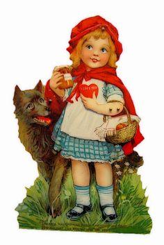 Little Red Riding Hood Vintage Valentine