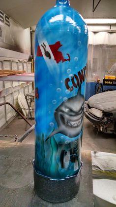 Scuba Tank Art - from my first airbrushing class.