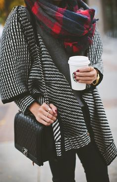 chanel + chunky knit = my idea of heaven.