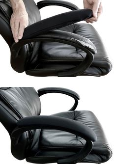 Soft Chair Arm Pad Covers Stretch Over Armrests To I Got These For My  Husbandu0027s Office Chair To Cover Cracks On His Leather Chair Cuz He Wonu0027t  Part With Or ...