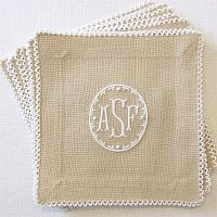 Sweet monogrammed cocktail napkins