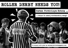 NABORY na Sędziów ROLLER DERBY! Zostań członkiem Warsaw Hellcats Roller Girls!!  #rollerderby #warsawhellcats #wrotki #sędzia