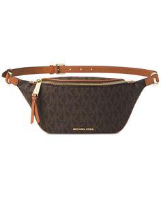 0678f60191ff90 Michael Michael Kors Rhea Zip-Top Extra Small Belt Bag Designer Belt Bag,  Designer
