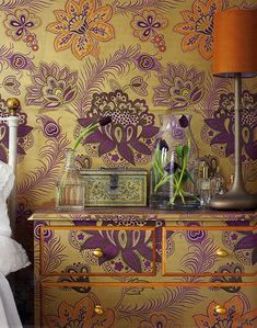 decoupage  ~ REALLY wild... but could also do with more muted stencil/wallpaper patterns