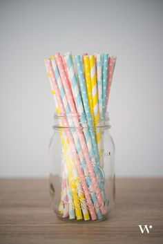 Paper straws - I found these recently at our local Hobby Lobby.  Love them!!!
