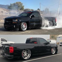 Chevrolet – One Stop Classic Car News & Tips Chevy Silverado Ss, Silverado Single Cab, Single Cab Trucks, Chevy Pickup Trucks, Chevy Pickups, Chevrolet Suv, Chevy 4x4, Chevy Trucks Lowered, Bagged Trucks