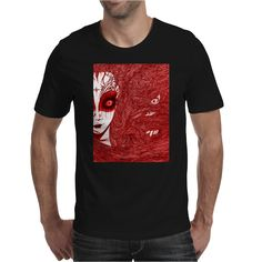 CAUGHT (Red Version) by Poisonlolly on Mens T-Shirt.