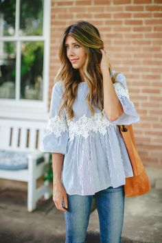 The Perfect Blouse spring style spring fashion fashion for spring style for spring warm weather style how to to style a lace top The Girl in the Yellow Dress Today's Fashion Trends, Fashion Blogger Style, Fashion 2017, Womens Fashion, Ladies Fashion, Fashion Styles, Fashion Tips, Spring Summer Fashion, Spring Outfits