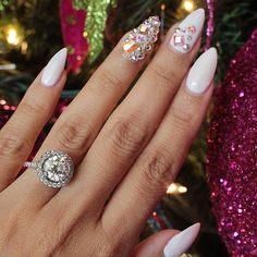 White with bling